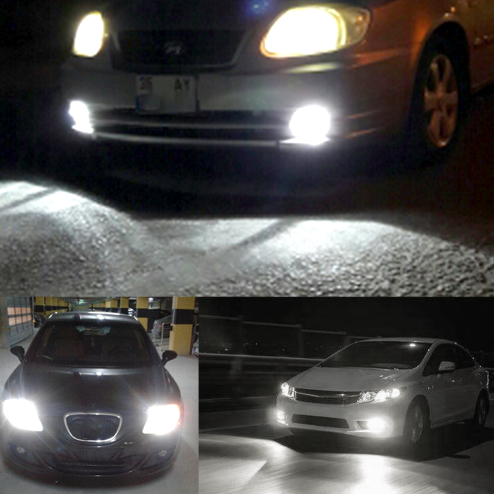 Hviero White Car Headlight Head Led Fog Light All in One H1 72W 8000lm Beam Auto Front Bulb Automobile Headlamp 6500K Car Lighting