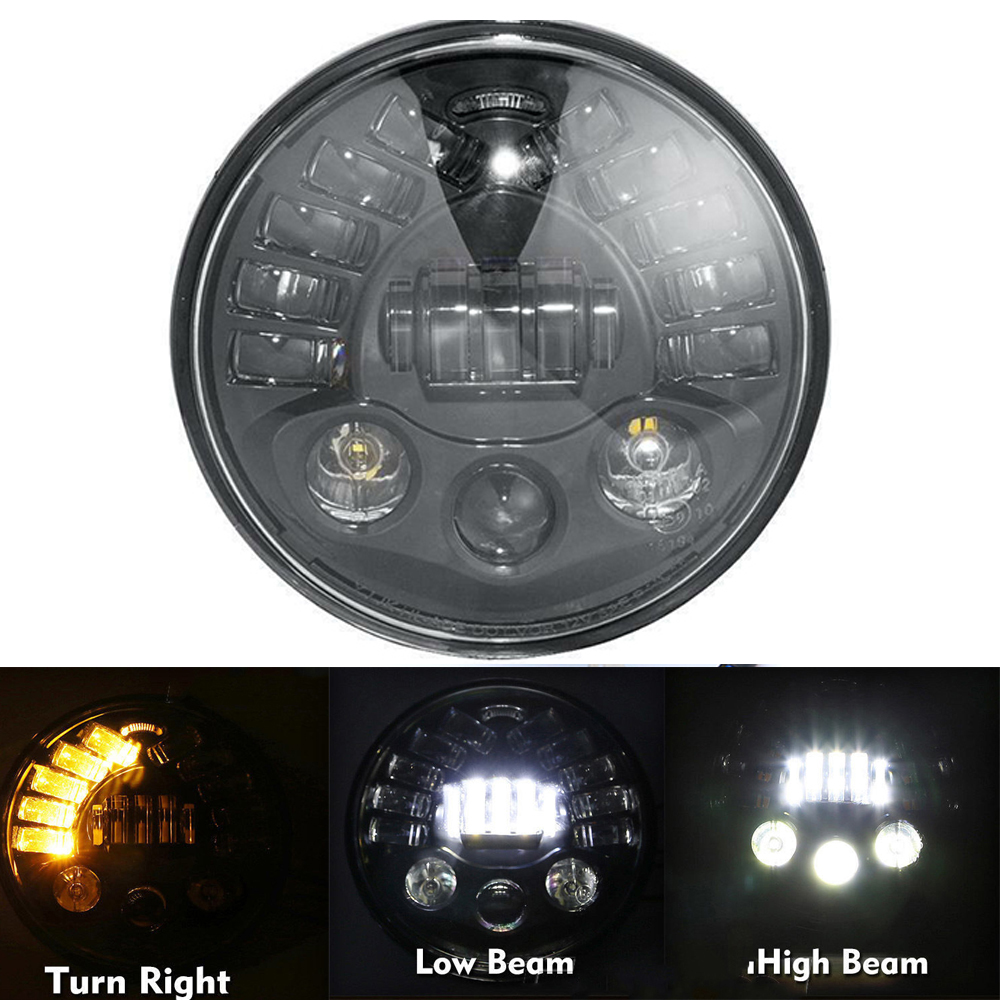 Phare de moteur de projecteur LED de moto de 7
