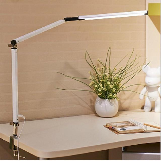 Творчество светодиодный настольная лампа архитектор задача лампы металлические качели руки затемнения настольная лампа с зажимом высоко Регулируемая workbench свет