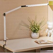 Kreatywność lampa biurkowa LED architekt lampa zadaniowa huśtawka metalowa ramię ściemniająca lampa stołowa z zaciskiem wysoce regulowana lampa warsztatowa