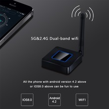 2.4G&5.8G HDMI+AV output Q4 Mirroring Dongle wifi display receiver HDMI Android TV stick Wireless DLNA Airplay Dongle