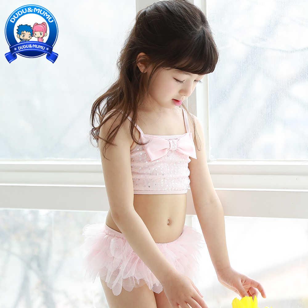 041ac651e9497 2019 New Summer Baby Swimwear Kids Girl Swimsuit Two pieces Children Bikini Set  Bathing Suit Pink