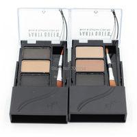 Eyebrow Powder Kit Long Wear Eyeliner Brown With Brush 12pcs Sobrancelhas Eye Brow Shaping Kit Makeup