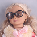 "Fashion Black  Doll Sunglass Fits 18"" American Girl Doll Clothes And Acessories  Handmade Toy Eyeglasses"