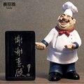 Figura de Chef de cocina de resina de 40cm de altura, pastel, panadería, Chef, tablero de mensajes en miniatura, estatua de cocina, hogar, restaurante, Bar, cafetería