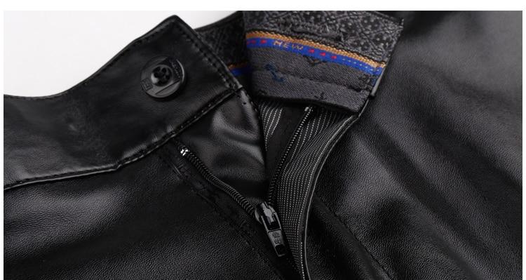HTB1H5yuIXzqK1RjSZSgq6ApAVXaI Thoshine Brand Summer Men Leather Pants Elastic High Waist Lightweight Casual PU Leather Trousers Thin Motor Pants Plus Size