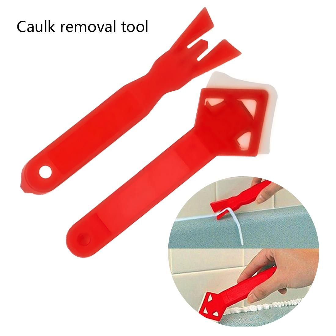 2Pcs Plastic Angle Scraper Caulking Glass Shovel Shovel Cleaning Kit Tool Set