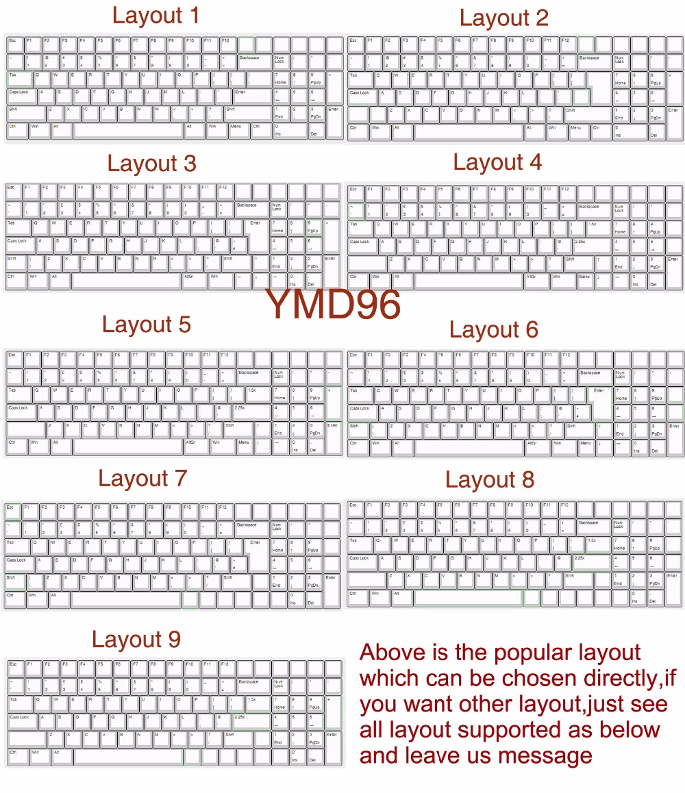YMDK Assembly Service For YMD96 YMD75 GH60 YD60M YD40 Switches leds