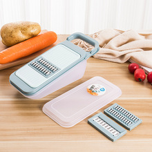 Creative home multi-function shredder stainless steel grater potato silk vegetable three plus one melon planing kitchen tools цена