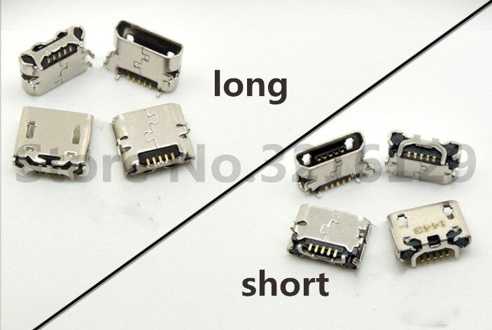 100pcs lot 100 New Micro USB socket Mini USB jack Connector charging port For Asus Me170