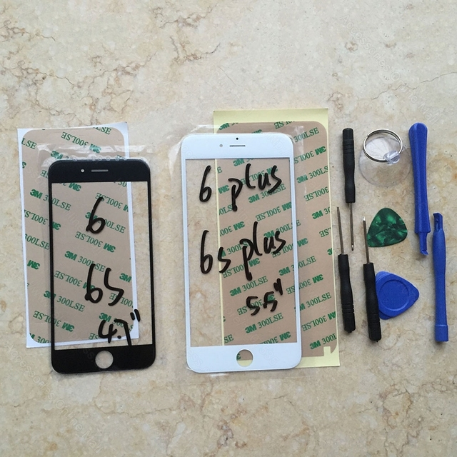 Front Lens Touch Screen Glass Panel Digitizer For iPhone 5 5C 5S Se 6 6s 7 Plus Black White With Tools Repair Phone Parts