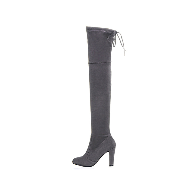 Thigh High Suede  Boots  2