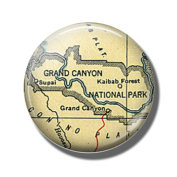 Grand Canyon Map 30 MM Fridge Magnet National Park Map Glass Cabochon Magnetic Refrigerator Stickers Note Holder Home Decoration image