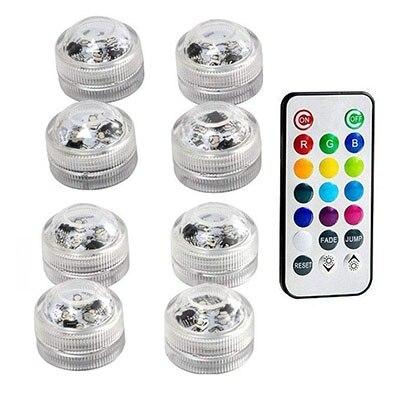 Подводные светодиодные лампы водонепроницаемый SMD3528 RGB подводный ночник Свадебный Чай Ваза-лампа чаша вечерние новогодние гирлянды - Испускаемый цвет: 8 Lamp 1 controller