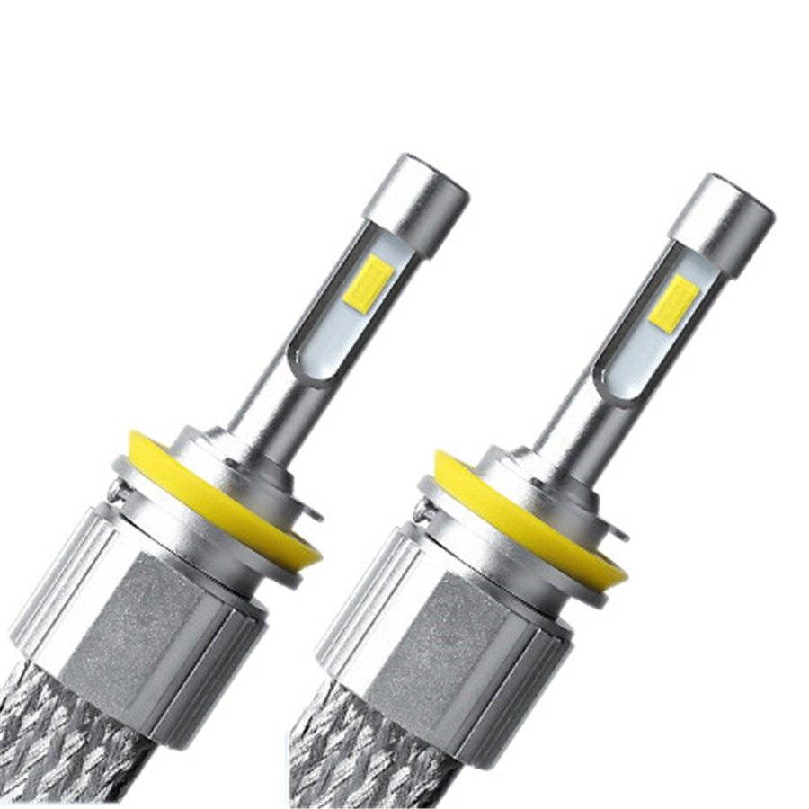 Car-styling H11 H8 H9 LED Car Headlight 96W 11520LM Headbulbs Conversion Lamp Kit Auto Car Front Headlamp Light Bulb all in one car styling 9005 hb3 9006 hb4 led car headlight 60w 8000lm headbulbs conversion lamp kit auto car front headlamp light bulb
