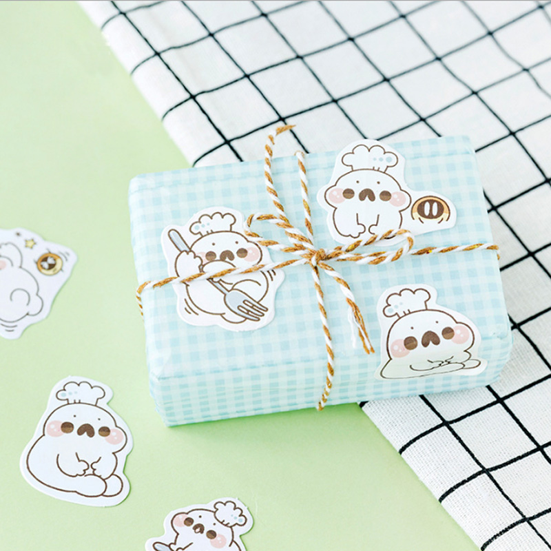 46 pcs box Leopard lovely mini paper sticker decoration stickers DIY ablum diary scrapbooking label sticker kawaii stationery in Stationery Stickers from Office School Supplies