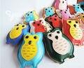 Мода Симпатичные Кожа Сова Брелок Брелок Животных Ключи от машины Кольцо Брелок Женщины Школа Сумка Аксессуары Подвеска