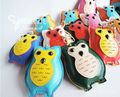 Fashion Cute Leather Owl Keychain Animal Key Chain Car Key Ring Key Holder  Women School Bag Accessories Pendant