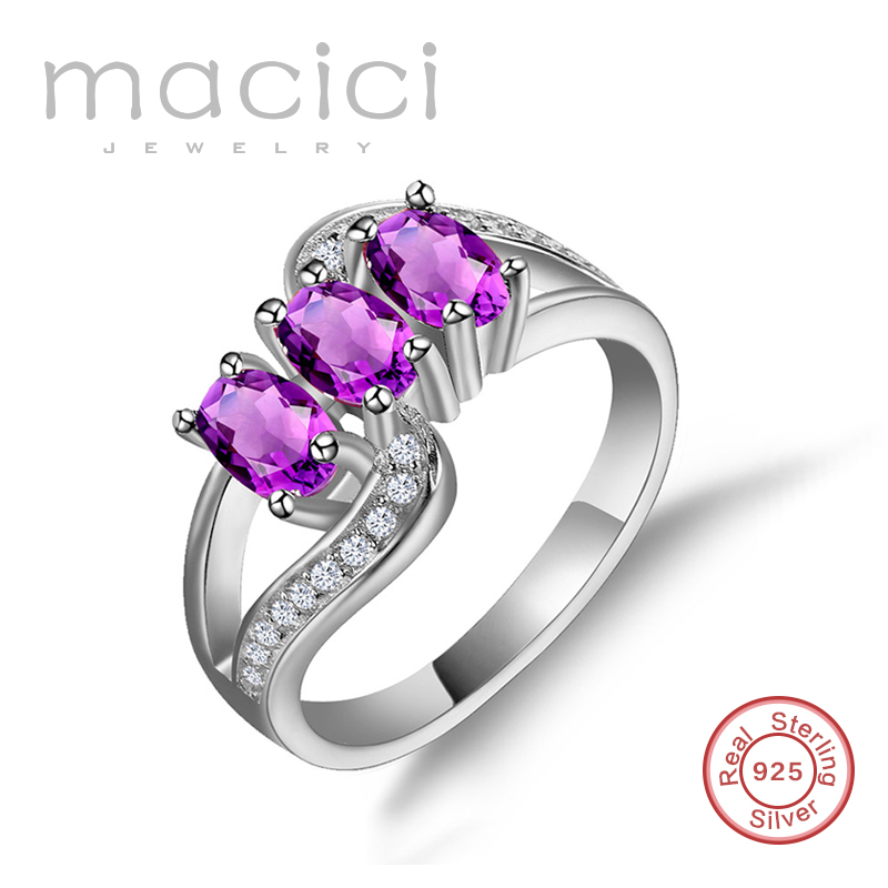 925 Zilveren Ring AAA Zirconia Ring USA Maat 5 6 7 8 9 Vrouwen Engagement Sieraden Gevuld Belofte Ringen Bijoux Femme HY-RD0016