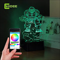 CNHidee USB Music Lamp Acrylic 3D Led Light Hulk Table Desk Changeable Nightlights for Baby Birthday Festival Creative Gift