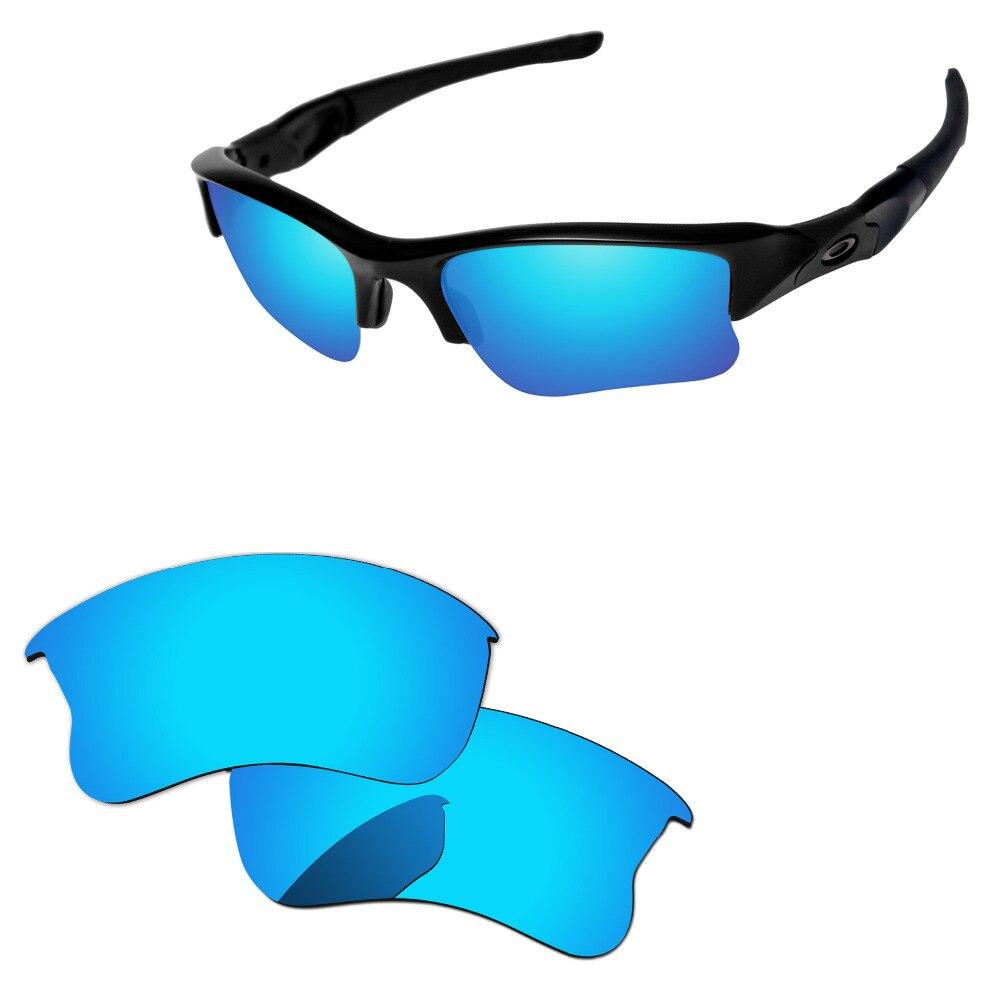 2db29034d7 Ice Blue Mirror Polarized Replacement Lenses For Flak Jacket XLJ Sunglasses  Frame 100% UVA