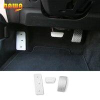 AUFLEGEN Auto Gas Bremse Links Fuß Rest Platte Pedal Abdeckung Innen Dekoration Zubehör für Ford Mustang 2015 Up Auto Styling