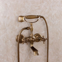 Fashion Bathroom Antique Bathroom Bathtub Faucet Simple Shower Set Copper Hot And Cold Shower Concealed Mixing