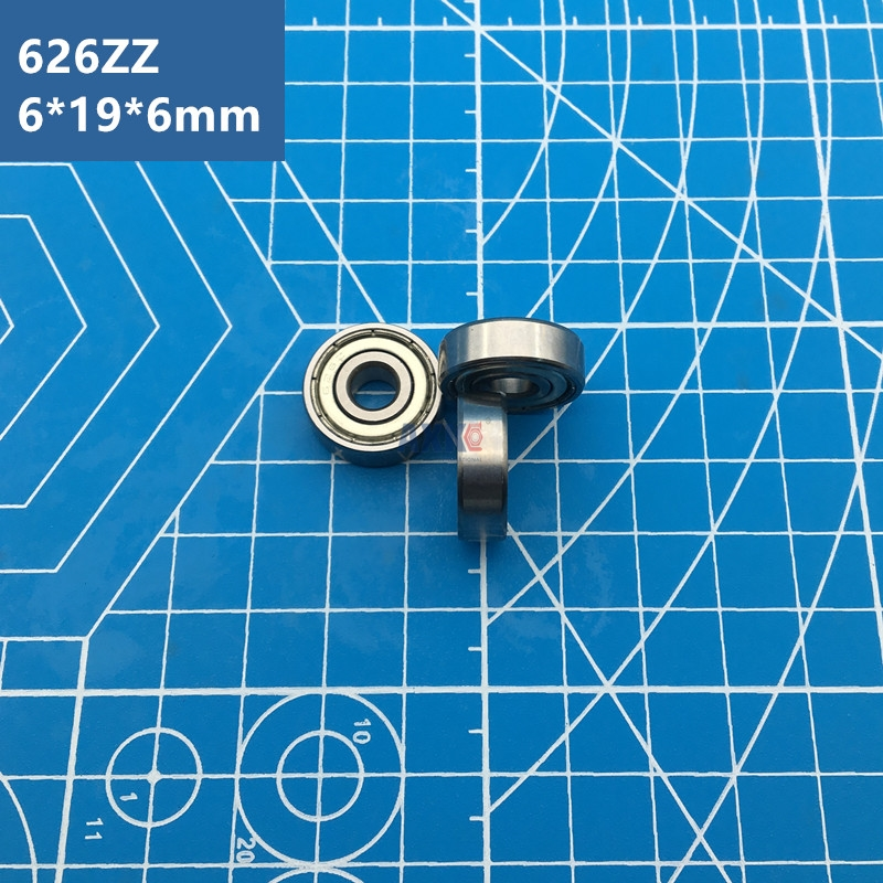 Free Shipping ABEC-5 radial shaft 10pcs 626ZZ (6*19*6 mm) metal shield miniature <font><b>626Z</b></font> deep groove Ball <font><b>Bearings</b></font> 626 ZZ EMQ Z3V3 image