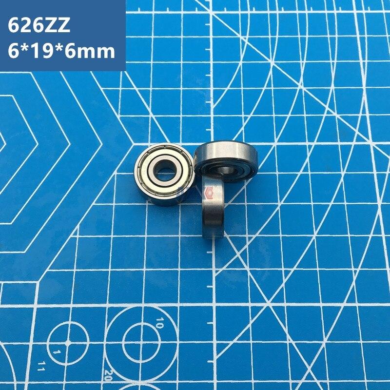 Free Shipping ABEC-5 radial shaft 10pcs 626ZZ (6*19*6 mm) metal shield miniature 626Z deep groove Ball Bearings 626 ZZ EMQ Z3V3