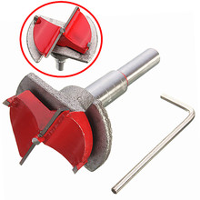 цена на 1PC 35mm Hinge Cutter Carbide Tipped Drill Bit Wood Positioning Drill Bit Reamer For Woodworking Drilling Tools