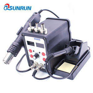 Image 4 - QSUNRUN 700W 220V 8586D 2 W 1 Hot wiatrówka i lutownica automatyczna stacja rozlutownicy z podwójnym wyświetlaczem cyfrowym