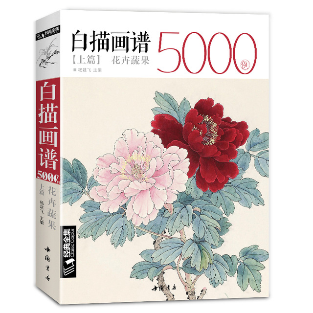 New Hot Chinese Line drawing painting art book for beginner 5000 Cases Chinese bird flower landscape gongbing painting booksNew Hot Chinese Line drawing painting art book for beginner 5000 Cases Chinese bird flower landscape gongbing painting books
