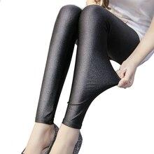 2018 Polyester Casual Leggings For Women High Elastic Black Fiteness Pencil Leggins