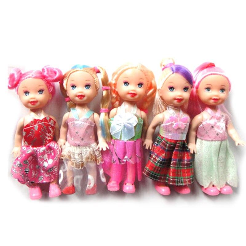 12 см мультфильм куклы Игрушечные лошадки сидя Одежда для детей; малышей; девочек украшения подарки на день рождения