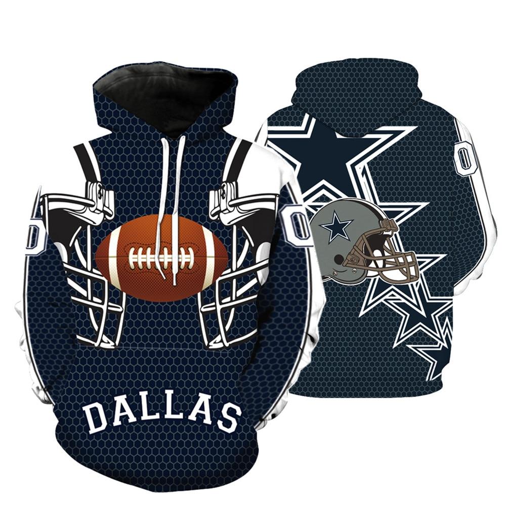 18e21e181 Dallas Cowboys 3D Print Full Zip Hoodies Cool Pullover Thin Fashion Coat  Jacket Unisex Jumper Sweatshirt