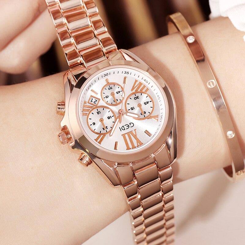 Top Brand Crystal Luxury Rose Gold Watch For Women Stisla Com