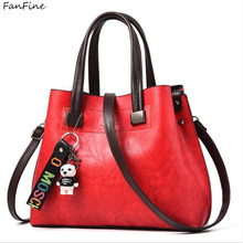 FanFine bags for women shoulder bag Female Tassel Pendant ladies Handbag Lady Patchwork tote Messenger bags