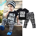 2016 New Kids Short Sleeve Baby Boy Summer Clothes Casual Tops T-shirt+Pants 2pcs Outfits Sports Suit For Baby Kids Boy Clothes