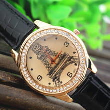 Free ship!Hot sell!Gerryda fashion woman lady watches,PVC leather band with quartz movement,rhinestone decoration case,692