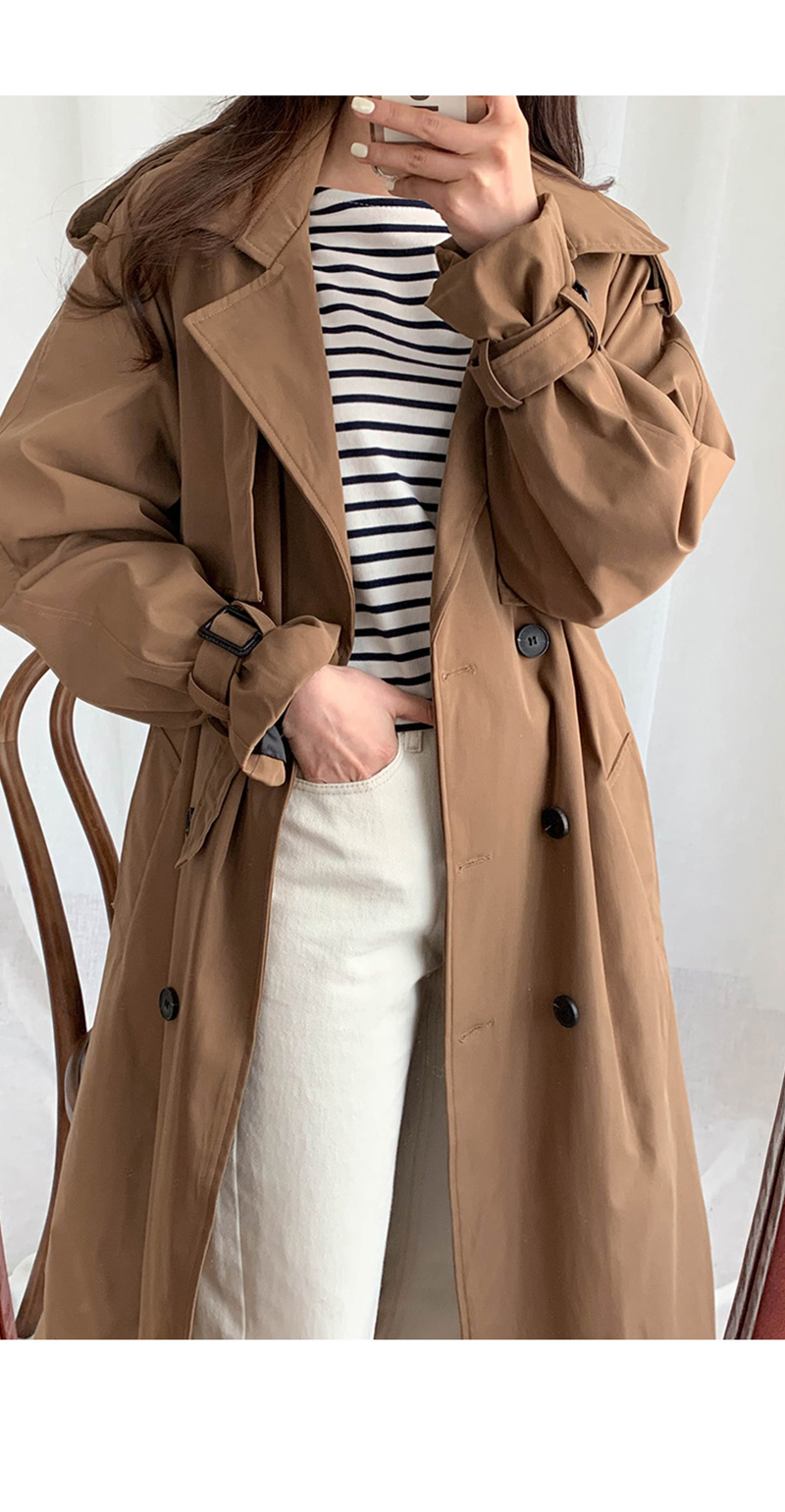 19 New Autumn Winter Women's Coat Korean Windbreaker Female Plus Size Double Breasted Ladies Long Chic Trench Coats 5