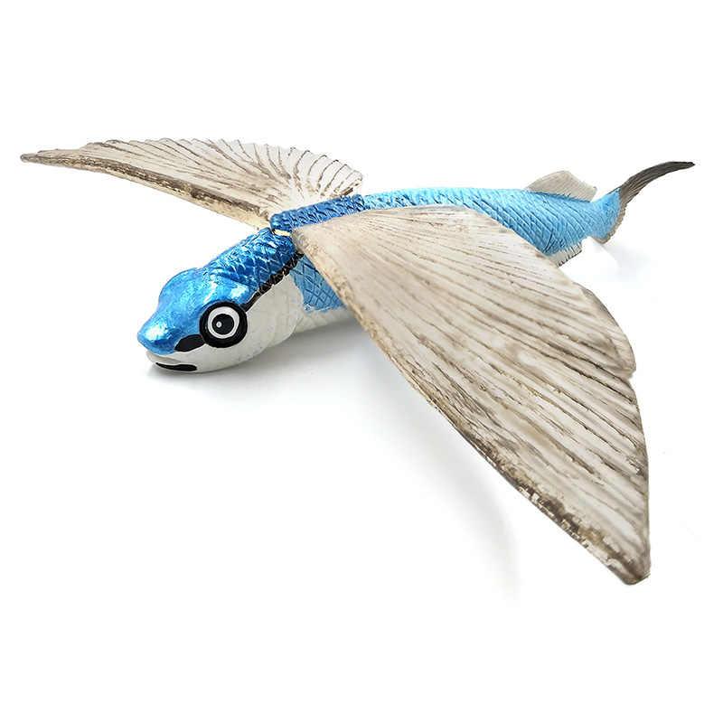 Flying fish Espadarte Pequeno Veleiro Modelo Animal simulação figura Estatueta para casa acessórios de decoração decoração Presente Para As Crianças brinquedo