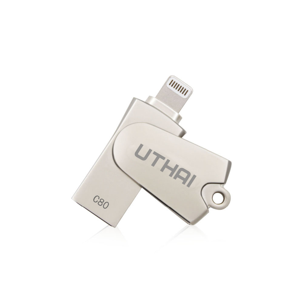 Uthai C80 Lightning Micro SD/TF OTG lector de tarjetas USB 2.0 memoria mini lector de tarjetas para iPhone 6/7 /8 más iPod IPad OTG lector de tarjetas