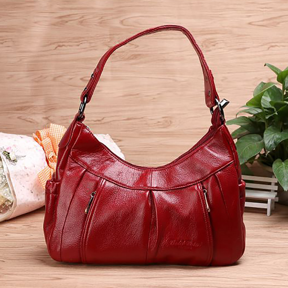 2017 New Women Genuine Leather Handbag Fashion Trends Female Casual Tote Bags Crossbody Shoulder Hobo Messenger Travel Bag 2017 fashion women handbag canvas shoulder bag messenger crossbody bags female casual tote travel bag hot sale