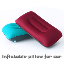 TPU laminated cloth portable high-grade inflatable car pillow receivable type