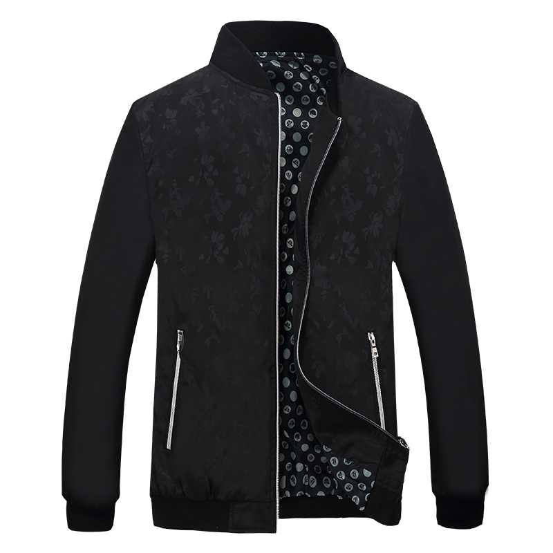 HTB1H61EX.rrK1RkSne1q6ArVVXaP Quality Bomber Solid Casual Jacket Men Spring Autumn Outerwear Mandarin Sportswear Mens Jackets for Male Coats M-5XL 6XL 7XL