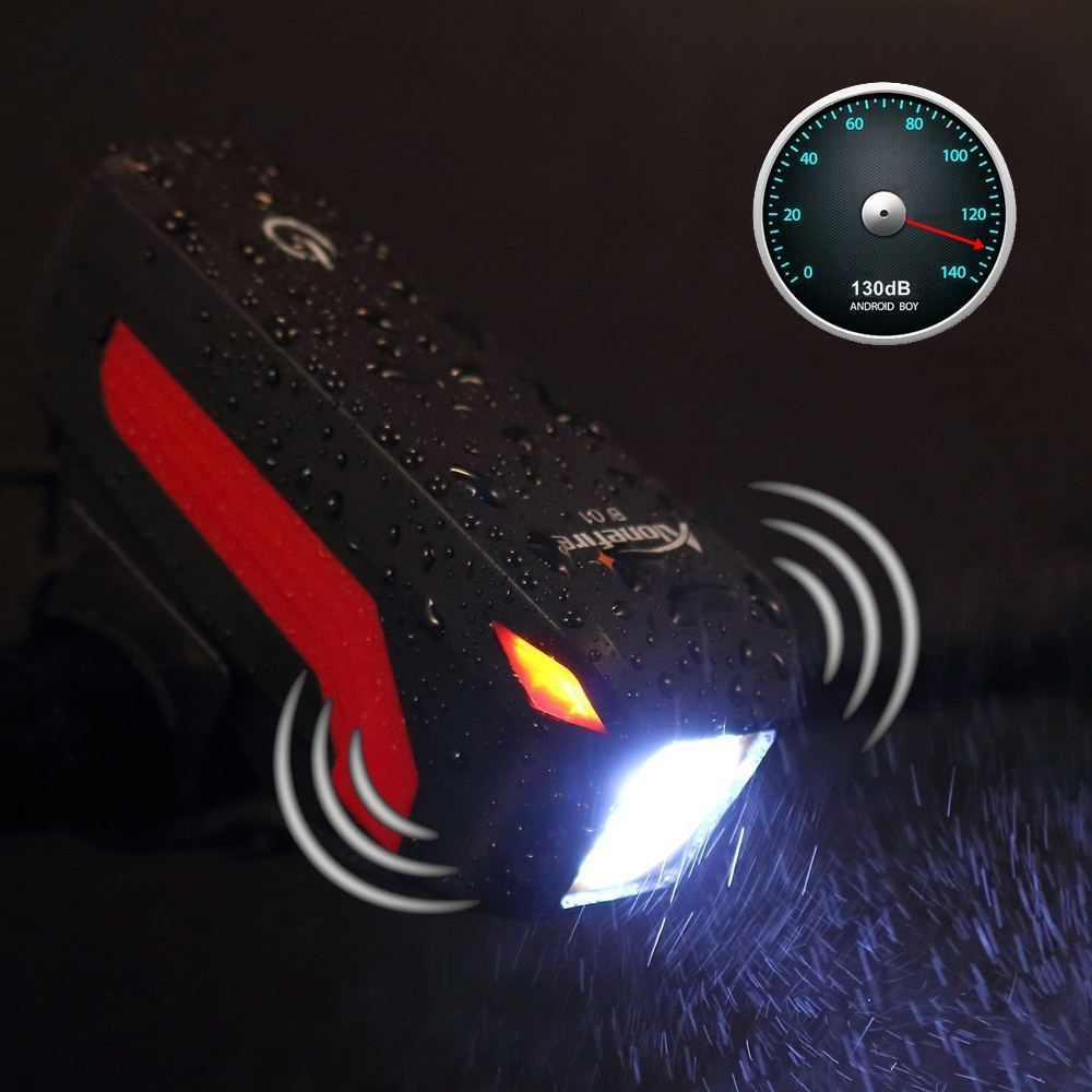 AloneFire Bike Light Head Speaker Bicycle ligh LED Flashlight With Bell Luces Cycle Lamp Outdoor MTB Road Cycling Headlight