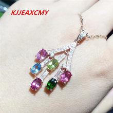 KJJEAXCMY boutique jewelry, Plata de Ley 925, turmalina natural, colgantes de mujer, adornos, joyería
