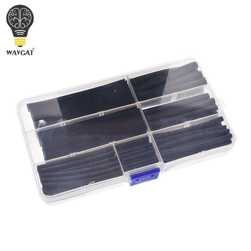 WAVGAT Heat Shrinkable Tube 2mm 3mm 4mm 5mm 6mm 8mm 10mm Tubing Sleeving Wrap Wire Cable Kit.