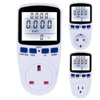 EU/US/UK Plug Digital Energy Meter 220V Wattmeter With Backlight Electronic Power Meter Record Volt Voltage Outlet Socket Meter