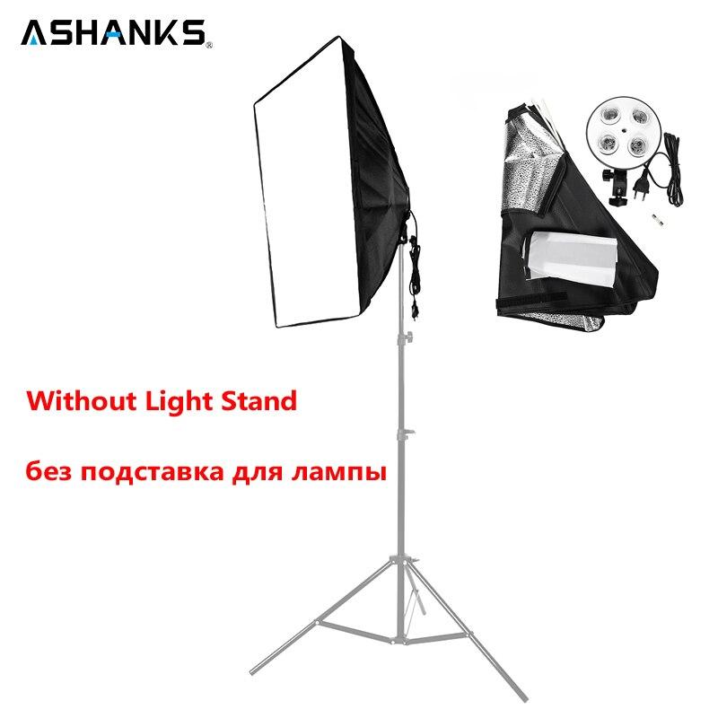 Ashanks 50*70 cm/19*27 softsoftsoftbox com 1 a 4 soquete lâmpada cabeça acessórios de iluminação para foto vídeo estúdio luz difusor caixa macia